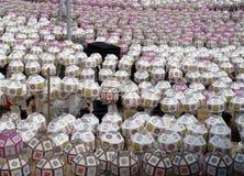 Lanternes de festival de jour de Bouddha en Corée du Sud Photos libres de droits