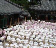 Lanternes de festival de jour de Bouddha en Corée du Sud Images libres de droits