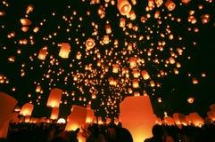 Lanternes de flottement Photos libres de droits