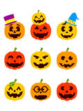 Lanternes de Halloween Photo libre de droits