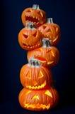 Lanternes de Jack O Images stock