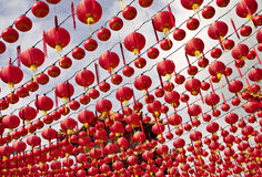 Lanternes de la Chine au temple de Thean Hou, Kuala Lumpur Image libre de droits