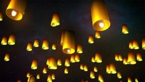 Lanternes de lancement de ciel illustration libre de droits