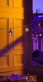 Lanternes de Noël brouillées Photos stock