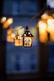 Lanternes de Noël brouillées Photos libres de droits