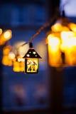 Lanternes de Noël brouillées Image stock