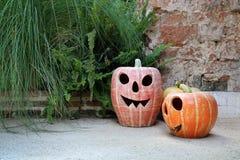 Lanternes de potiron de Halloween photographie stock libre de droits