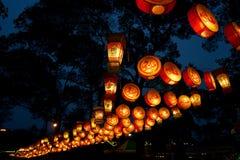 Lanternes de promenade de Jinli Images libres de droits