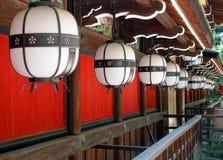 Lanternes de temple photographie stock libre de droits