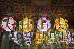 Lanternes de temple Images libres de droits