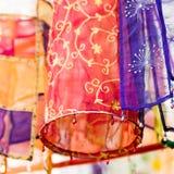 Lanternes de tissu Images libres de droits