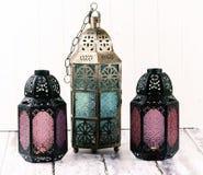 Lanternes en métal Image stock