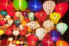 Lanternes en soie en Asie Images stock