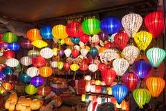Lanternes en soie en Asie Photo stock