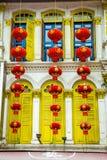 Lanternes et décorations chinoises Photographie stock libre de droits