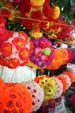 Lanternes florales Photo libre de droits