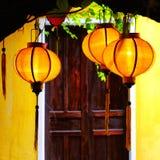 Lanternes jaunes Photos stock