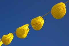 Lanternes jaunes Photographie stock