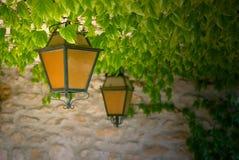 Lanternes oranges et noires photo stock