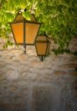 Lanternes oranges et noires photos stock