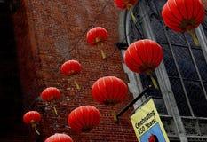 Lanternes rouges Images libres de droits