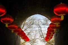 Lanternes rouges Photo libre de droits