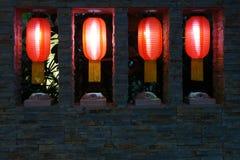 Lanternes rouges Photo stock