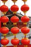 Lanternes rouges chinoises Photo stock