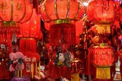 Lanternes rouges chinoises Photo libre de droits