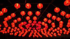 Lanternes rouges chinoises pendant la nouvelle année chinoise Image libre de droits