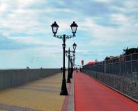 Lanternes sur le quai Sotchi, Adler Photographie stock