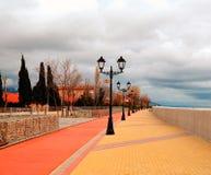 Lanternes sur le quai Sotchi, Adler Photo libre de droits