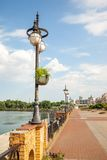 Lanternes sur le remblai Image libre de droits
