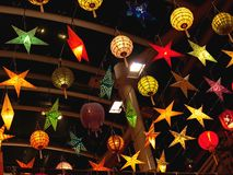 Lanterns. Colorful and Bright Lanterns of various shapes and size Royalty Free Stock Photography