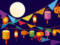 lanterns stock illustration