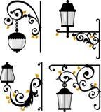 Lanterns. Retro lamps for street lighting Royalty Free Stock Photo
