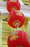 Lanterns 2. Lanterns hanging from a Chinatown shophouse - Singapore Royalty Free Stock Images