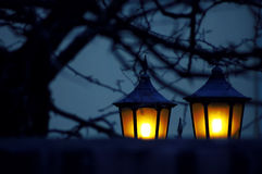 Lanterns. In the night Royalty Free Stock Photography