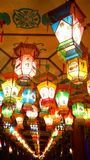 Lantern Festival in Zigong, China. Lanterns, also known as flower lanterns, is a popular traditional Chinese folk arts and crafts as New Year celebration Stock Photos