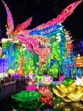 Panda Lantern in Zigong. Lanterns, also known as flower lanterns, is a popular traditional Chinese folk arts and crafts as New Year celebration. Zigong Lantern Stock Photo
