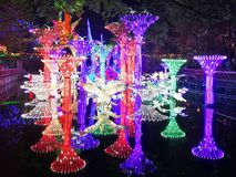 Lantern Festival in Zigong, China. Lanterns, also known as flower lanterns, is a popular traditional Chinese folk arts and crafts as New Year celebration Royalty Free Stock Photos