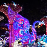 Swan Lantern in Zigong, China. Lanterns, also known as flower lanterns, is a popular traditional Chinese folk arts and crafts as New Year celebration. Zigong Stock Images