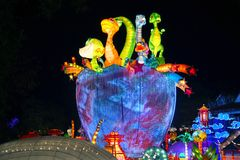 Lantern Festival in Zigong, Sichuan. Lanterns, also known as flower lanterns, is a popular traditional Chinese folk arts and crafts as New Year celebration Royalty Free Stock Photography