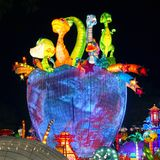 Lantern Festival in Zigong,China. Lanterns, also known as flower lanterns, is a popular traditional Chinese folk arts and crafts as New Year celebration Stock Images