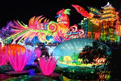 Lantern Festival in Zigong,China. Lanterns, also known as flower lanterns, is a popular traditional Chinese folk arts and crafts as New Year celebration Royalty Free Stock Photo