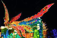 Phoenix Lantern in Zigong, China. Lanterns, also known as flower lanterns, is a popular traditional Chinese folk arts and crafts as New Year celebration Royalty Free Stock Images
