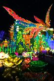 Phoenix Lantern in Zigong, China. Lanterns, also known as flower lanterns, is a popular traditional Chinese folk arts and crafts as New Year celebration Stock Photos