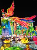 Lantern Festival in Zigong, China. Lanterns, also known as flower lanterns, is a popular traditional Chinese folk arts and crafts as New Year celebration Stock Image