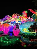 Lantern Festival in Zigong, China. Lanterns, also known as flower lanterns, is a popular traditional Chinese folk arts and crafts as New Year celebration Stock Photography