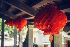 Lanterns in the ancient town of Hoi An, Vietnam Stock Images